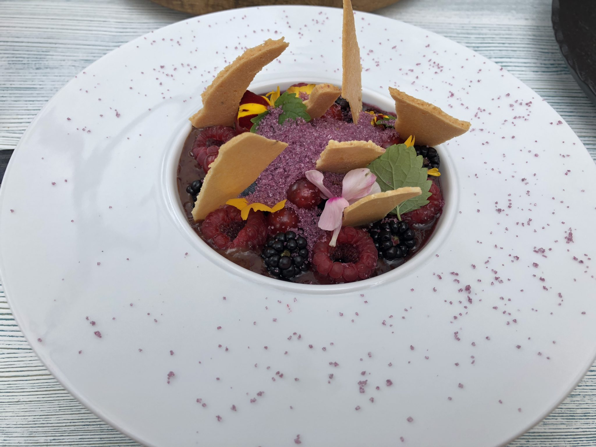 Chocolate & berry mousse