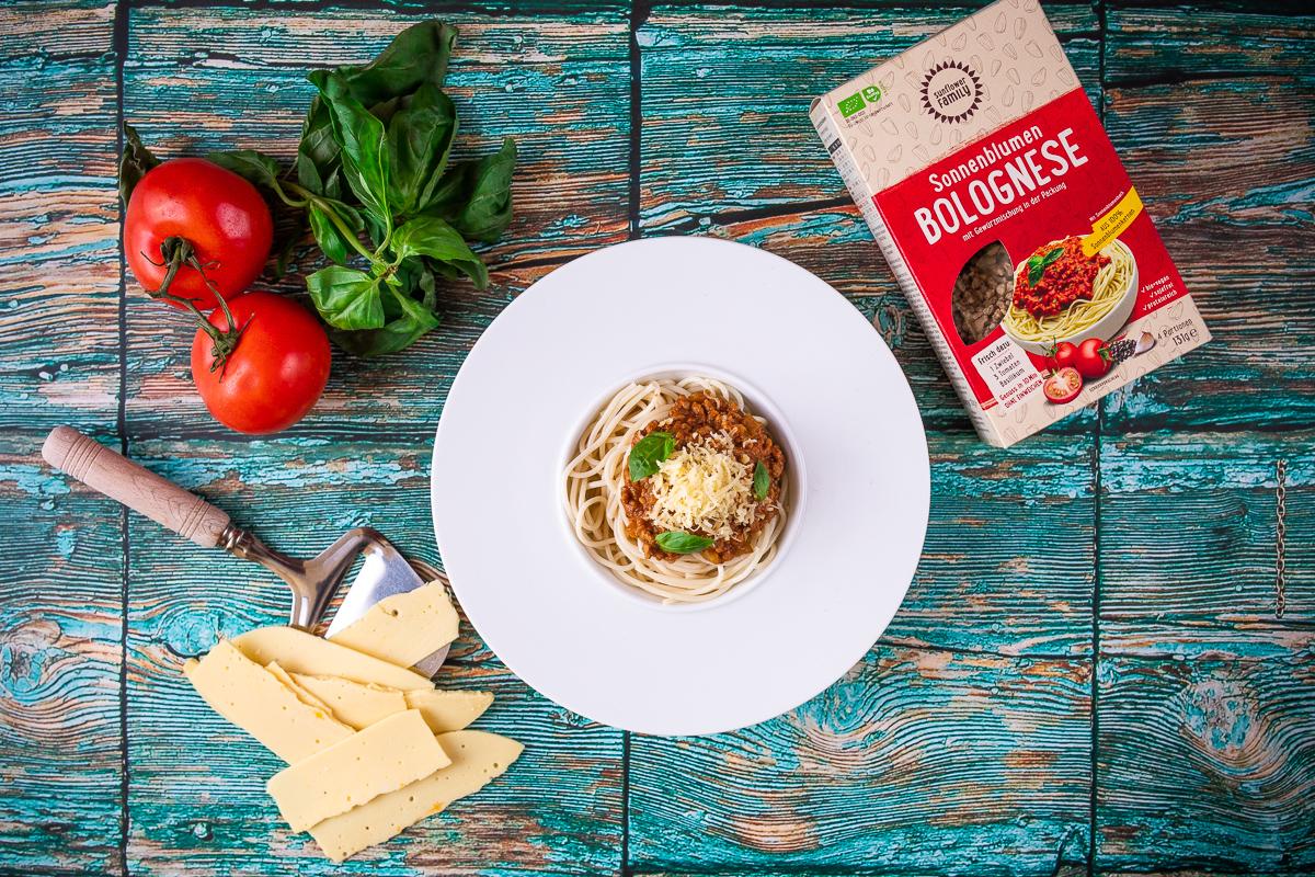 Sunflower Family Spaghetti Bolognese